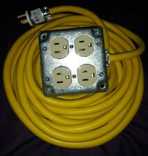 25 Foot Extension cord. Brand new, never used. 14 AWG, 15 amp, 4 Receptacles