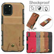 For iPhone 12 Pro Max 11 Xr 7 8 Card Holder Case Leather Wallet Shockproof Cover