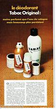 PUBLICITE ADVERTISING 115  1976  TABAC ORIGINAL  eau de Cologne after-shave