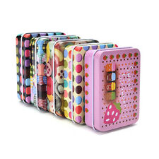 Mini Tin Metal Container Small Rectangle Lovely Storage Box Case Pattern Cute MW