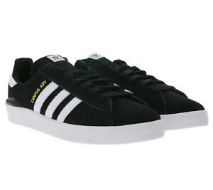 adidas Campus ADV Low Top Sneaker 80s-Schuhe für Damen und Herren Schwarz/Weiß