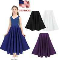 US Girl Liturgical Praise Dance Dress Spirit Praise Loose Fit Pleated Maxi Skirt