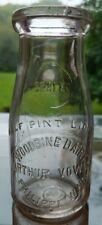 Half Pint Woodbine Dairy Milk Bottle Philippi WVA WV Arthur Vowls