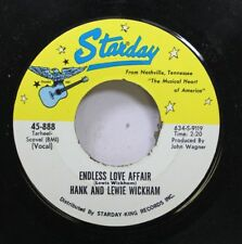 Country 45 Hank And Lewie Wickham - Endless Love Affair / Little Bit Late On Sta