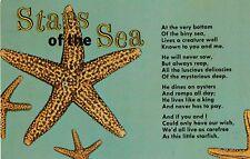 "*Starfish Postcard-""The Stars of The Sea"" ...w/Poem-"