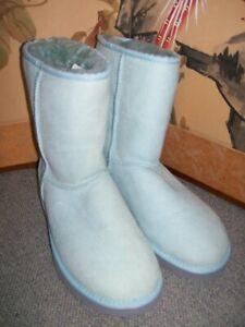 UGG CLASSIC SHORT BOOTS LIGHT BLUE SIZE WOMENS 8 NWOB