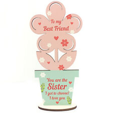 Best Friend Gifts Sister Gifts Wooden Flower Friendship Gift For Birthday