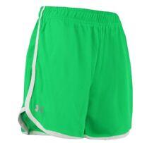 Under Armour Women's Heatgear Running Shorts ,Green Color Sz Large ,New