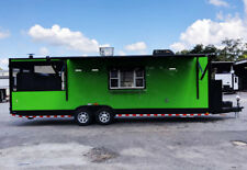 28' Extreme Green with black trim fully loaded Food vending Trailer