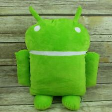 "Google Android Green Mascot Logo 18"" Plush Robot Pillow Soft Toy"