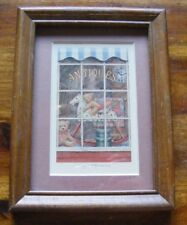 """vintage 1986 Hallmark framed plaque """"Happy Memories"""" DE3911 teddy bears Antiques"""