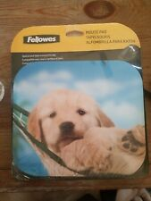 Fellowes Recycled Mouse Pad,Non Skid,Puppy In A Hammock