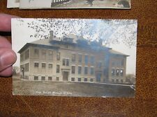 US Postcard Used Minonk IL High School RPPC 1907 Postmark