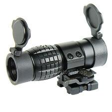 Quick Detachable Tactical 3X FTS Magnifier Scope & Flip to Side Mount 20mm Rail