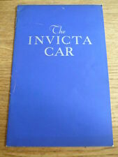 RARE  INVICTA BLACK PRINCE CAR BROCHURE