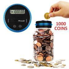 Electronic LCD Coin Money Counting Jar Box Saving Digital Piggy Bank Gift