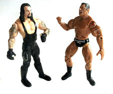 "WWF WWE TNA Wrestling DAVE BATISTA vs UNDERTAKER 6"" toy action figure set"