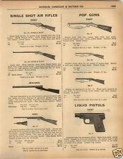 1925 PAPER AD King Benjamin Daisy Air Rifle BB Gun Dart Colt Automatic Pistol