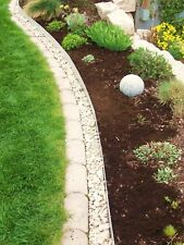 10 Pack Metal Lawn Edging Narrow Border with Click-Fix System