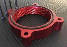 THROTTLE BODY SPACER for FORD F-150 6.2L, 5.0L V8 BILLET ALUMINUM RED