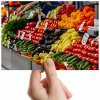 "Fruit and Vegetables Market Small Photograph 6"" x 4"" Art Print Photo Gift #12960"