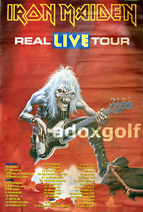 Iron Maiden Real Live Tour 1993 official Tour-Merch-Plakat-Poster rar