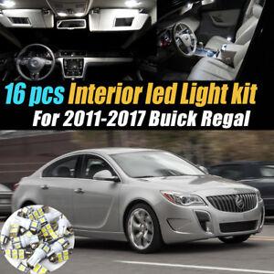 16Pc Super White Car Interior LED Light Bulb Kit for 2011-2017 Buick Regal