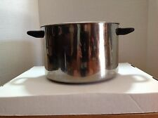 Vintage Stainless Steel Kitchenware Covered Stock Pot