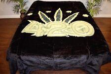 ☀New 5 Pounds Soft Queen Korean Mink Blanket Cannabis Marijuana 420 Leaf