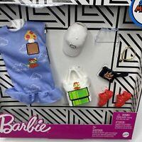 Barbie Super Mario Fashion Pack Nintendo Dress Purse Hat Shoes