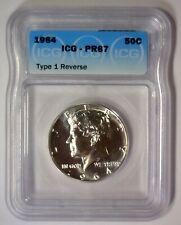 1964 Proof Kennedy Rare Transitional Variety Straight G Type 1 Rev. ICG PR67 #06