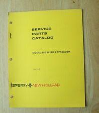 New Holland Model 302 Slurry Spreader Service Parts Catalog Manual