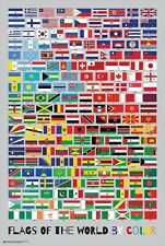 FUN WITH FLAGS! ~ FLAGS OF THE WORLD BY COLOR ~ 24x36 NEW/ROLLED!
