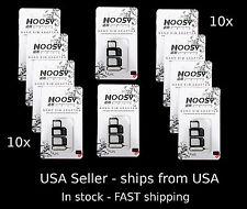 10x Apple iPhone  + SAMSUNG  -  NOOSY 3  Nano Micro  SIM Card Adapter kits