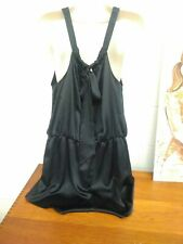 NWOT Victoria's Secret Satin Bow-back Romper Black Size L