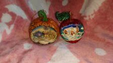 Disney Tradition Jim Shore Cinderella Pumpkin And Snow White Apple