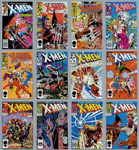 UNCANNY X-MEN A LOT OF 94 COPPER AGE COMICS #201-#320 VF/NM AND BETTER