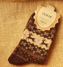 Roiii 1 Pair Womens Ladies Warm Wool Thick Winter Socks Nordic Novelty Sock
