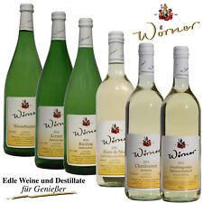 WEINGUT WÖRNER: 6 Fl. Probierpaket Weißwein halbtrocken, Pfälzer Wein vom Winzer