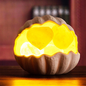 Salt Lamp Shell Rock Sea Crystals Night Light Kids Baby Bedroom Creative Ceramic