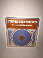 VINTAGE 70's Stereo Test RECORD LP AUDIOPHILE Stereo Review Booklet MODEL SRT 14