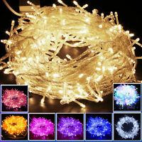 10M/20M 100/ 200LED Bulbs Christmas Wedding Fairy Party String Lights Waterproof