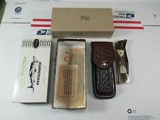 """Vintage 80 CASE XX No.5159 LSSP Stag """"Hammerhead"""" Knife + Sheath + Box + Papers"""
