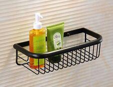 30cm Oil Rubbed Bronze Bathroom Accessory Shower Shelf Storage Basket Holder