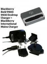 Genuine BlackBerry Bold 9900 Desktop Charging Pod Cradle Stand + Mains Charger