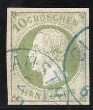 German States, Hannover 1861 Mi.18 Fine used, Signed Berger BPP