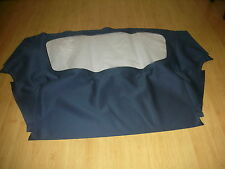 BMW E30 BAUR 83 - 91 BRAND NEW REAR SECTION SOFT TOP BLUE STAYFAST CANVAS