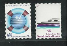 UNITED NATIONS, VIENNA # 31-32  MNH SAFETY AT SEA