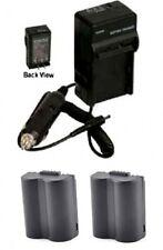 TWO 2 Batteries + Charger for Panasonic DMC-FZ50EF DMC-FZ50EGM DMC-FZ50K