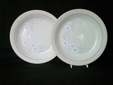 "Hornsea Bouquet 2 x Dessert Sandwich Breakfast Plates 8"" dia Very Good Condition"